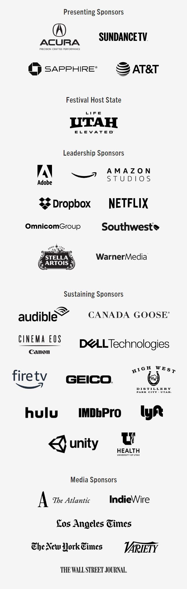 Sundance film festival Sponsors