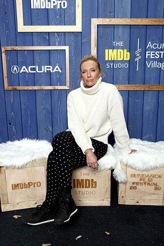 Toni Collette Glows In Winter White At Sundance