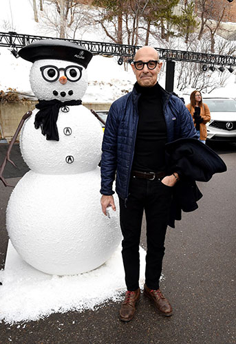 Stanley Tucci And Snowman